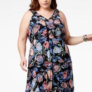 John Paul Richard Plus Size Printed Maxi Dress